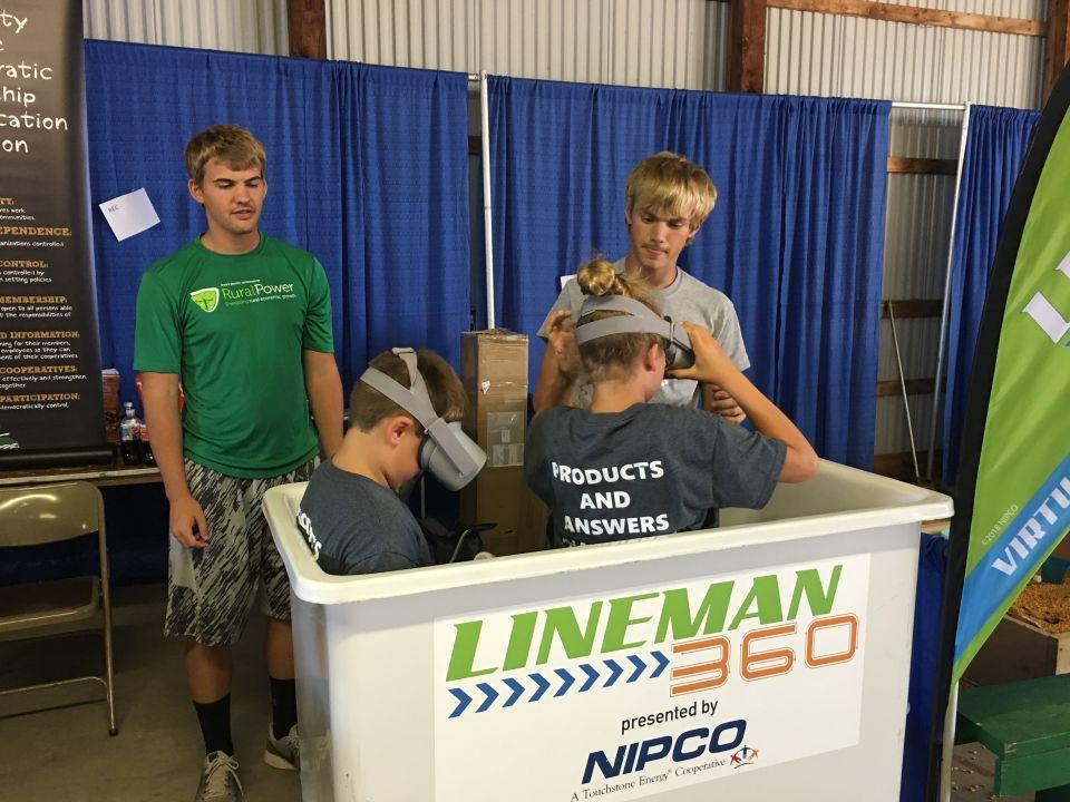 Lineman 360 Virtual Reality Experience Shelby County Fair 2019