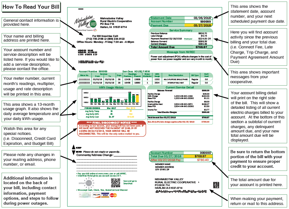 Sample NVREC bill