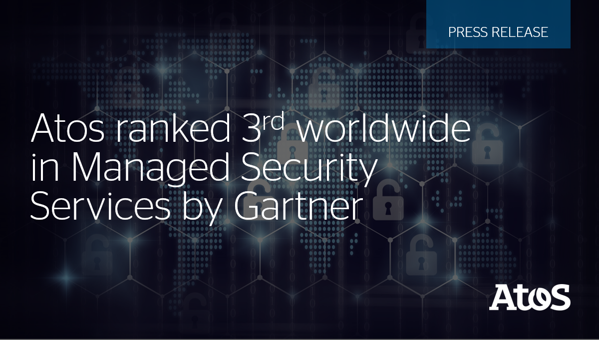 Atos, today announces it has been ranked the 3rd global player in Managed Security Services #...
