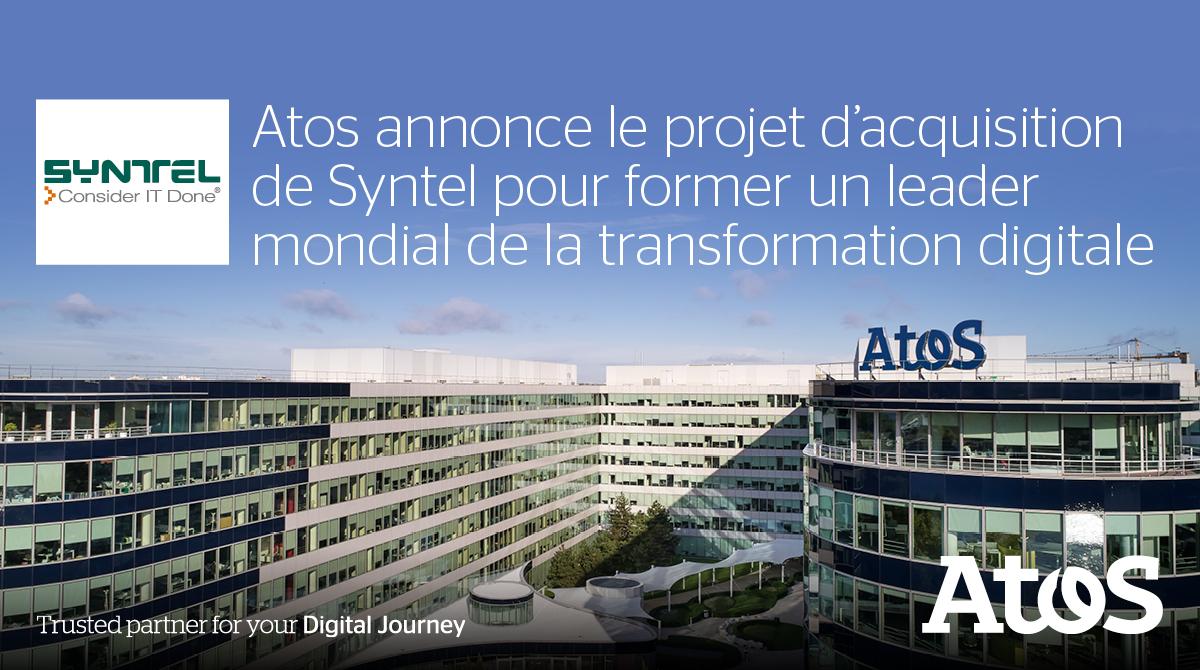Atos annonce le projet d'acquisition de SYNTEL #DigitalLeader...
