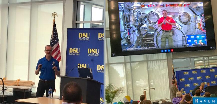 Raven Aerostar's Brian Matherly presents at DSU's STEM Institute Space Day