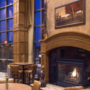 Fireplace Breakfast Area