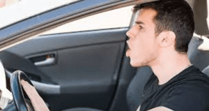 guy angry in car