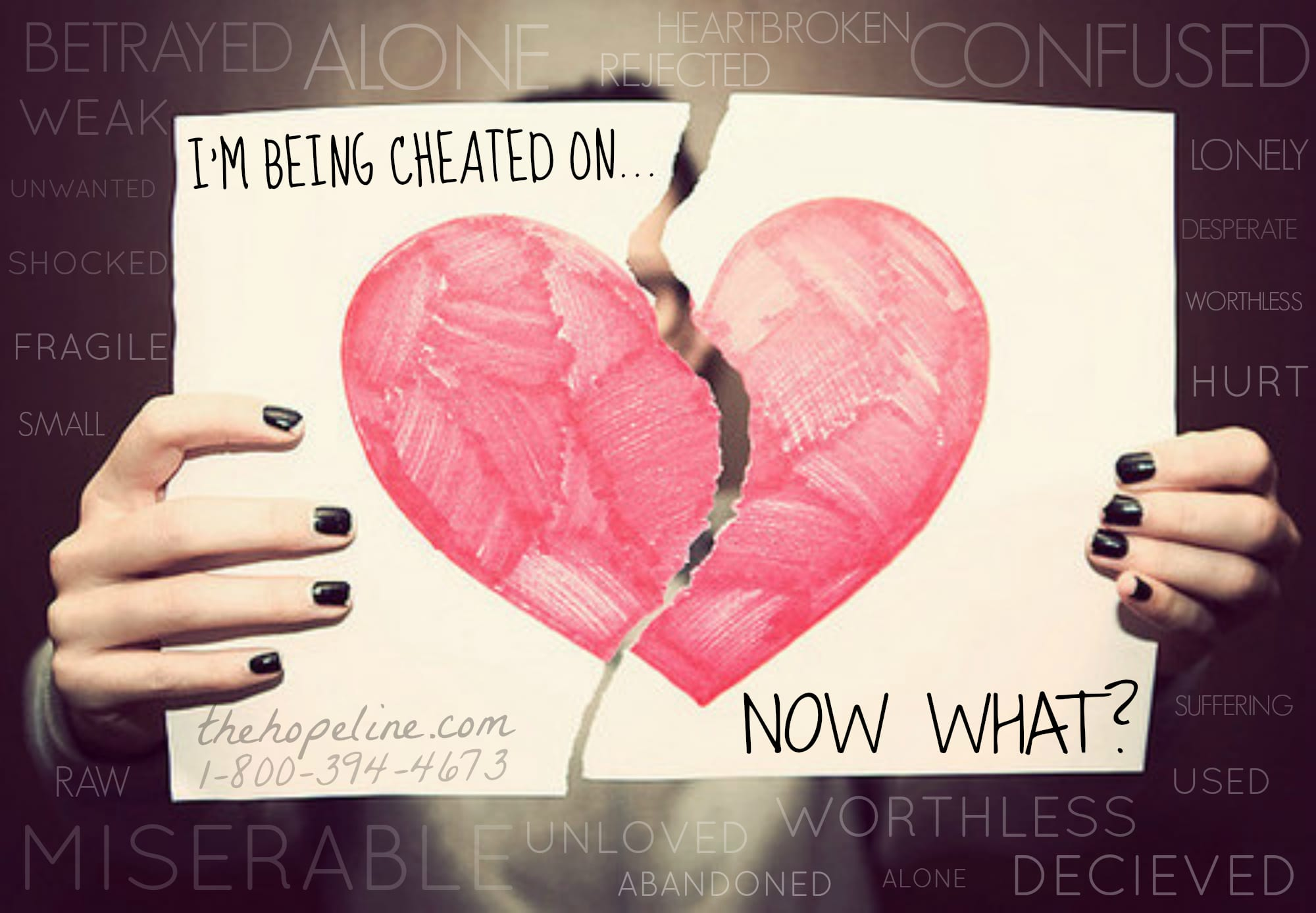 Your BF/GF is Cheating on You   Now What? - TheHopeLine