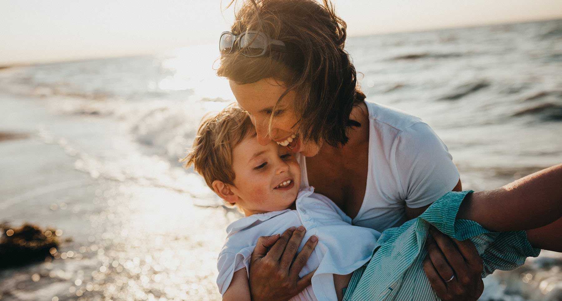 mother loving her son after her ex left them