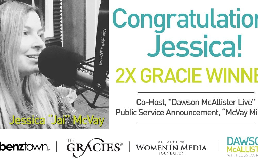 Jai McVay Wins Gracie Awards