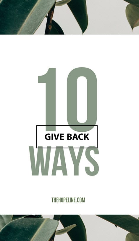 Top 10 Ways to Give Back
