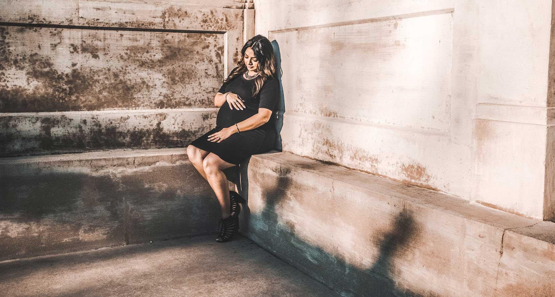 Woman facing depression after adoption