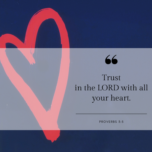 ", ""Trust in the LORD with all your heart, and lean not on your own understanding; in all your ways acknowledge Him, and He will make your paths straight."""