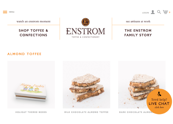 Enstrom Toffee & Confectionary