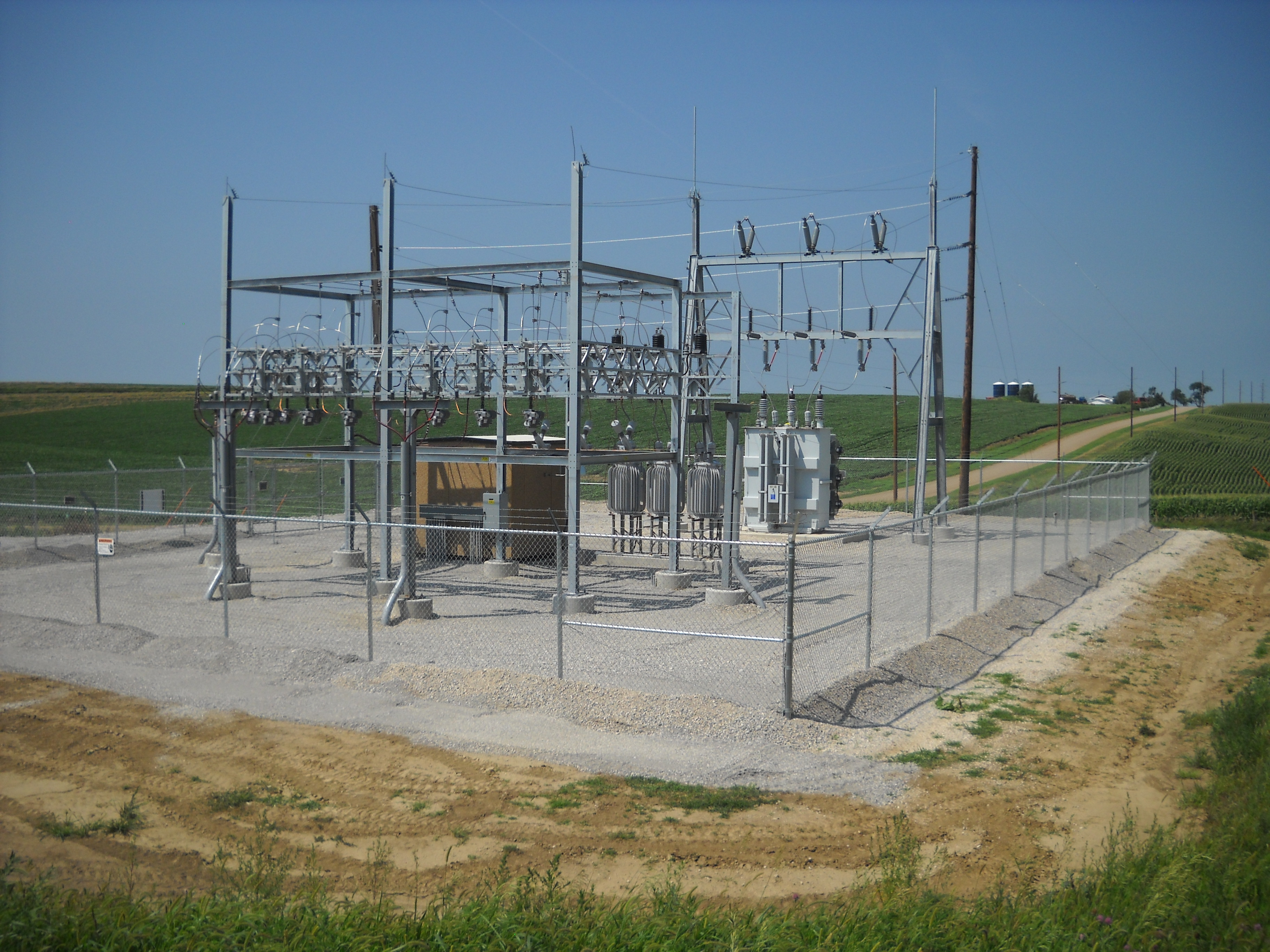 Photo features an image of the Moville Substation, 2014.