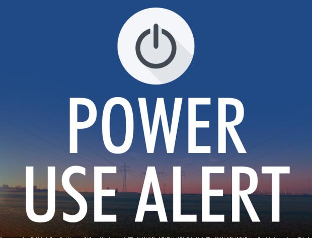Power Use Alert graphic