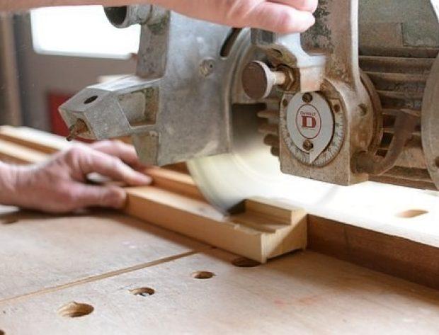 workshop equipment and wood
