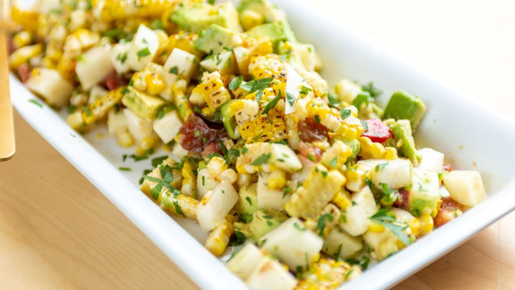 Roasted Corn & Jicama Ceviche