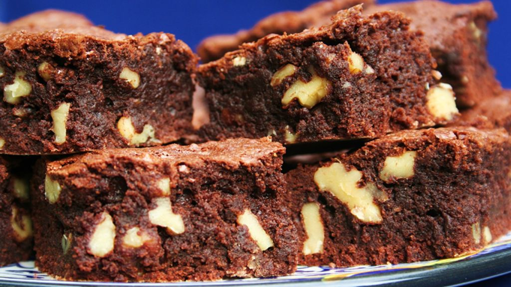 Fudgy Walnut-Studded Brownies