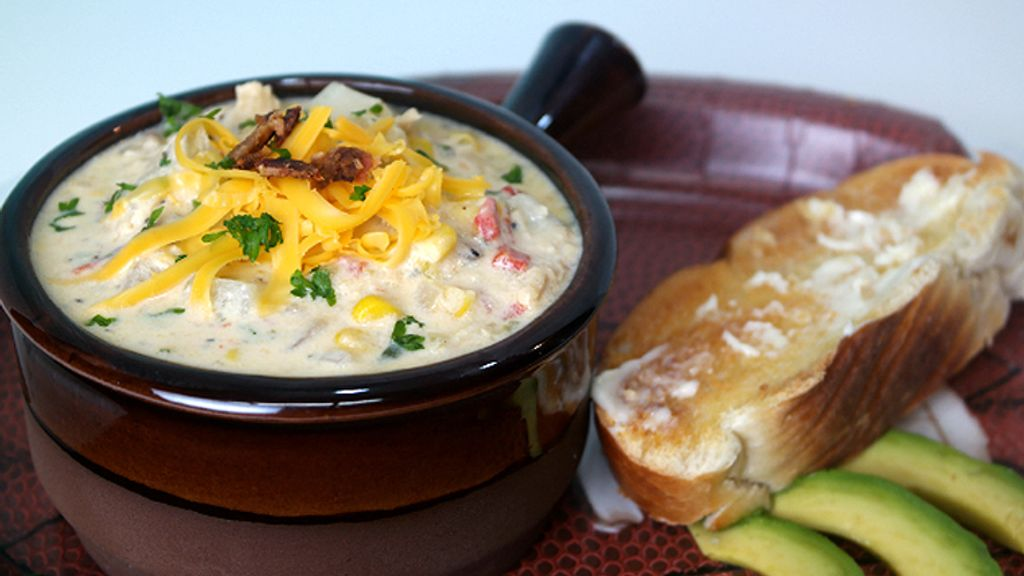 Jalapeno Popper Chicken and Corn Chowder