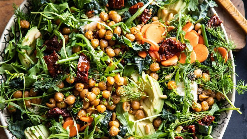 Give Me Some Greens Kale Salad with Avocado and Pistachios