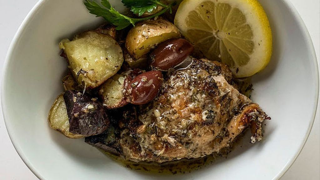 Greek Lemon Chicken w/Olives