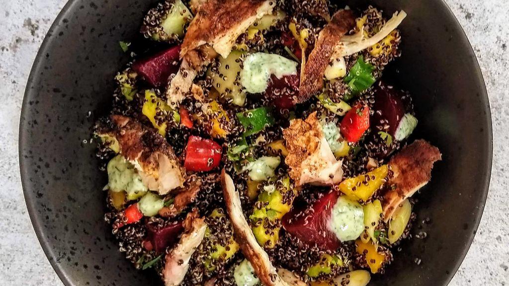 Southwest Grilled Chicken & Quinoa Salad