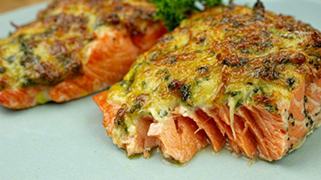 Basil Parmesan Salmon
