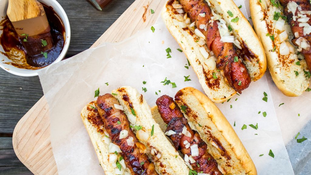 BBQ Bacon Dogs