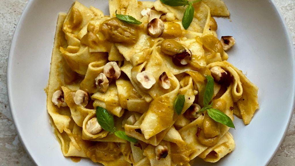 Butternut Squash, Parmesan, & Hazelnut Soup / Pasta Sauce
