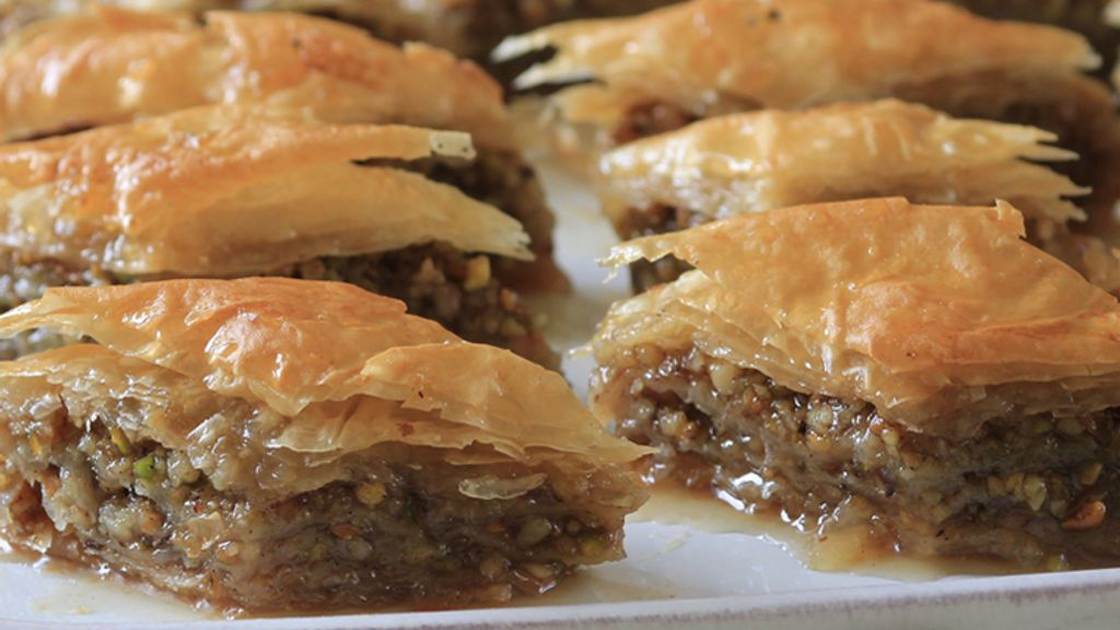 Baklava with Honey-Chamomile Syrup