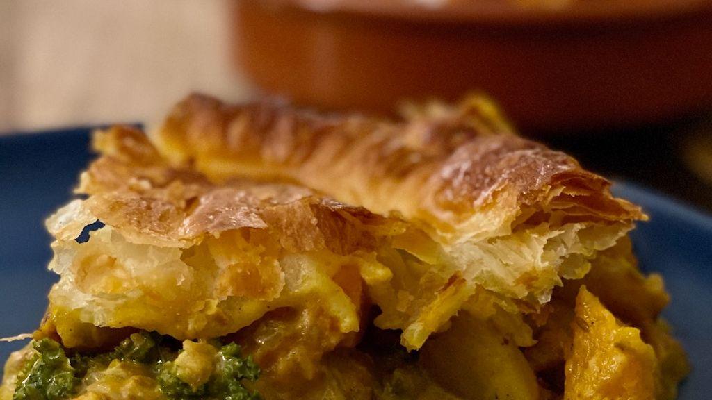 Vegan Curried Vegetable Pot Pie