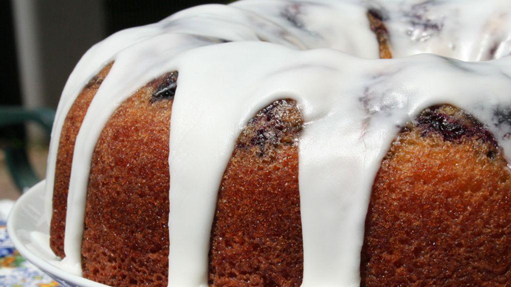 Glazed Lemon Blueberry Bundt Cake