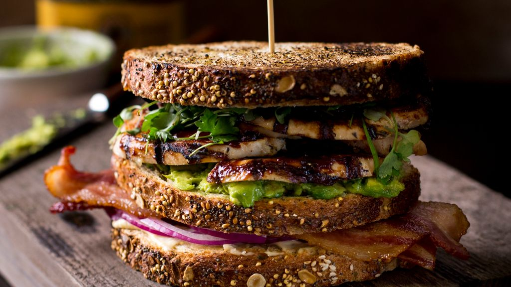 BBQ Chicken Club Sandwich