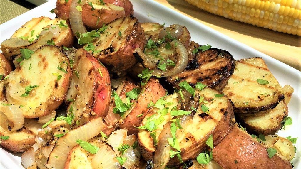 Grilled Potato & Sweet Onion Salad