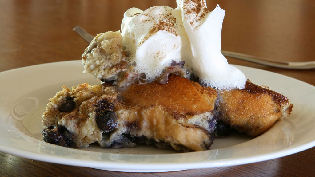 Bread Pudding with Balsamic Whipped Cream