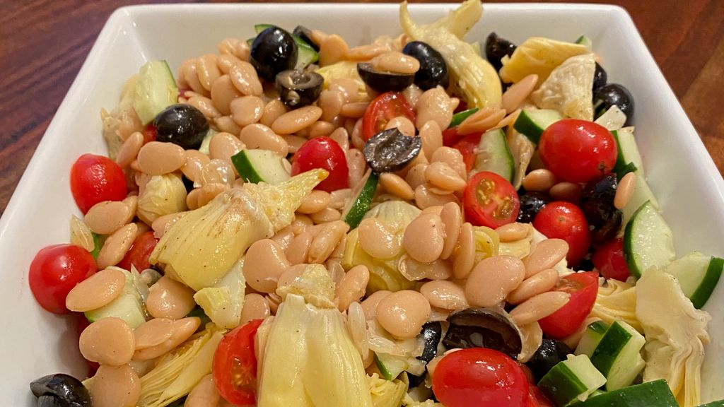 Artichoke & Bean Salad with Dill Vinaigrette