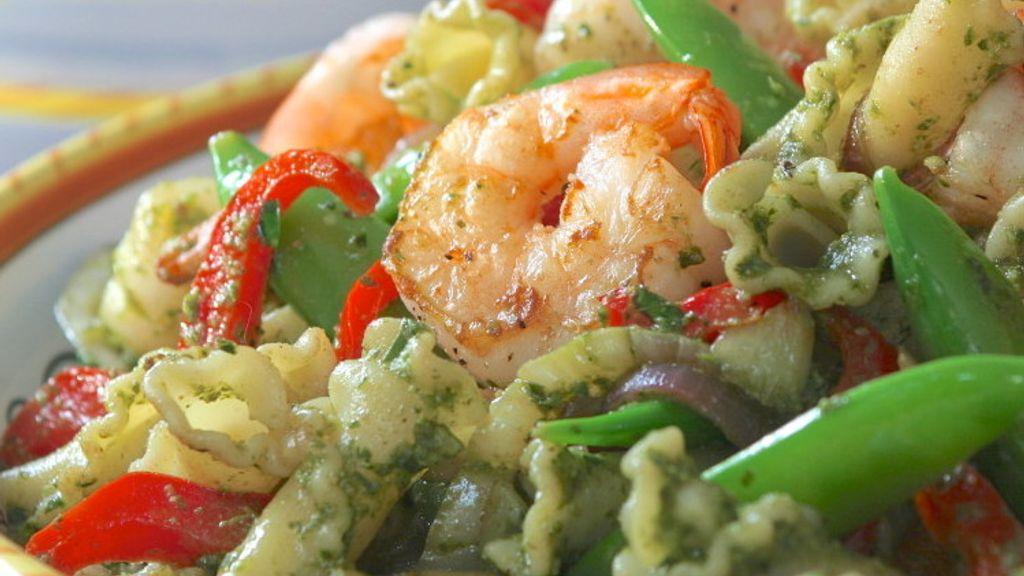 Pasta Salsa Verde with Shrimp