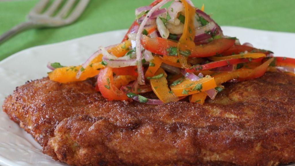 Pork Chuletas with Salsa Criolla