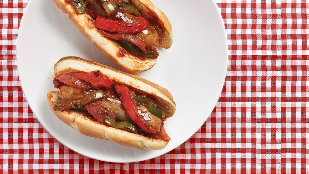 Balsamic Sausages & Peppers