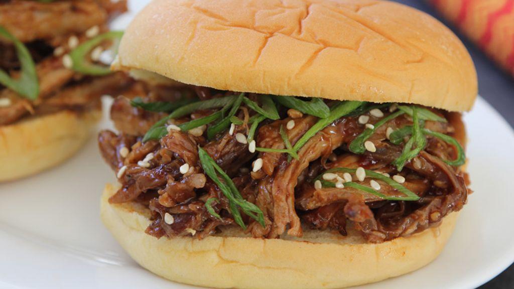 Manhattan Sesame-Hoisin Pulled Pork Sliders