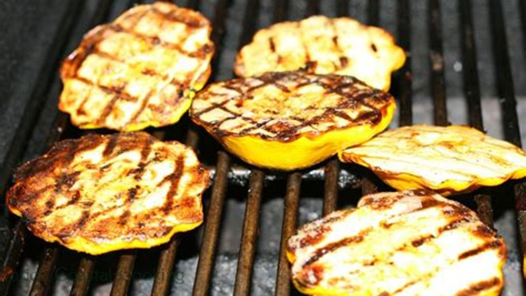 Grilled Yellow Squash Pizza