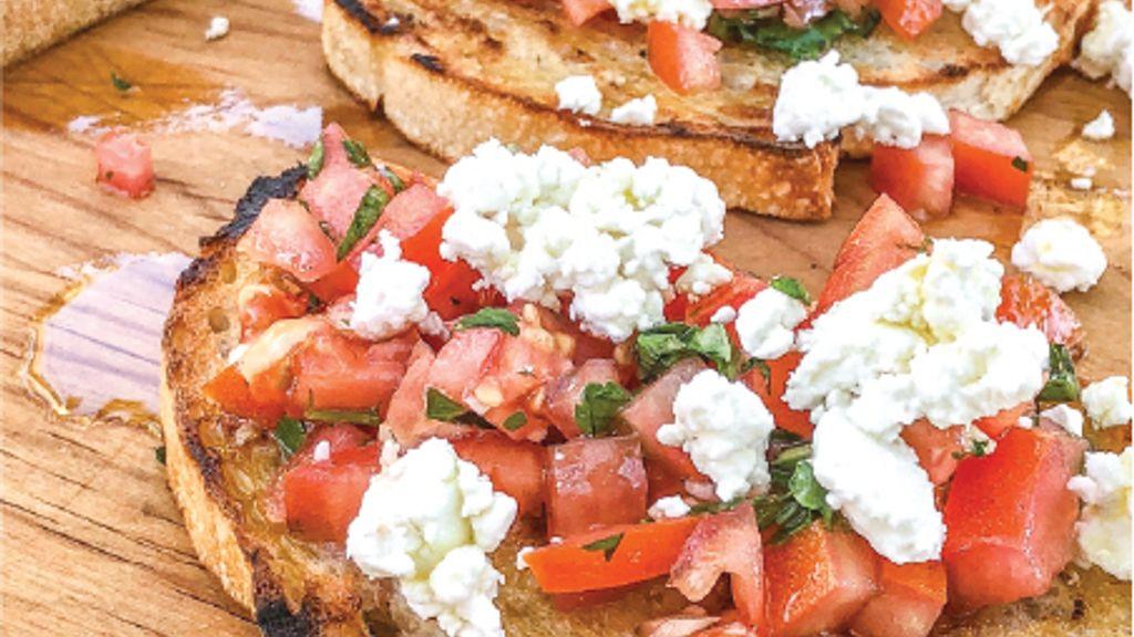 Tomato, Basil and Goat Cheese Bruschetta
