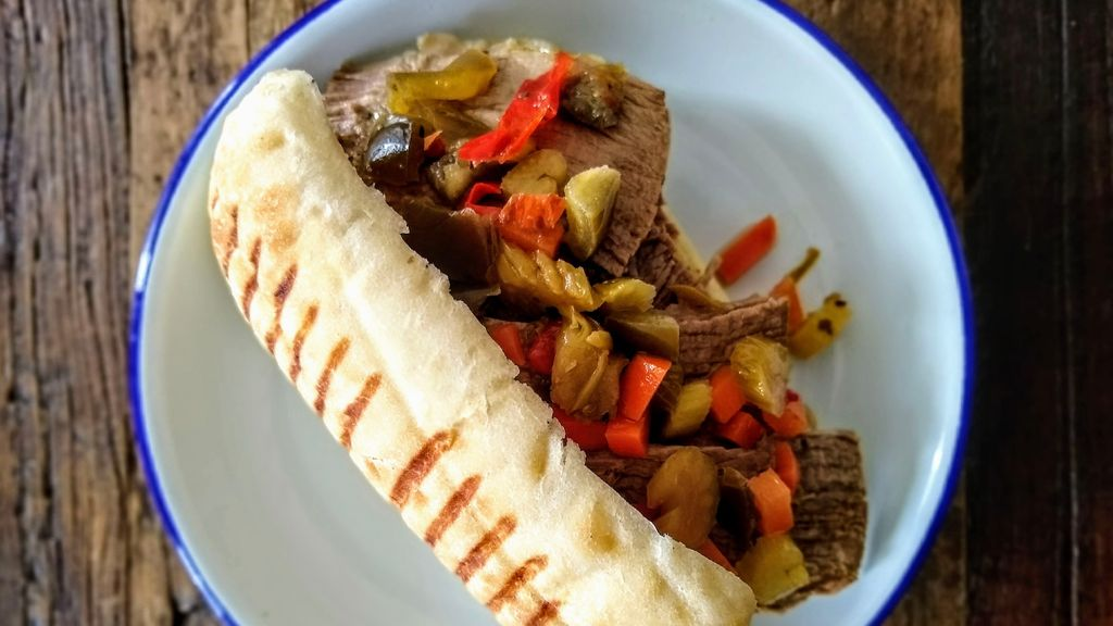 Italian Beef Rolls with Giardiniera