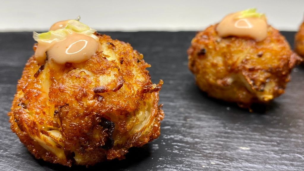 Crab Beignets with Cocktail Sauce