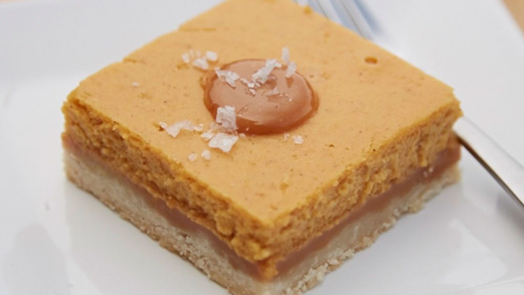 Caramel Pumpkin Cheesecake Squares
