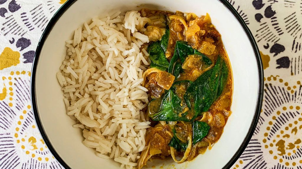 Chicken & Spinach Coconut Curry