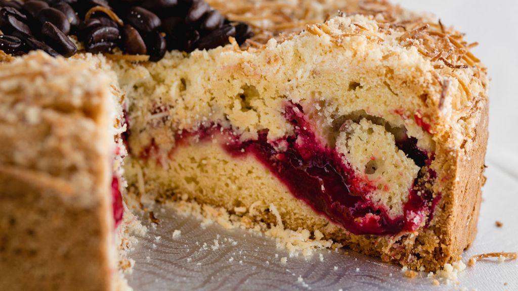 Whisked Raspberry Coffee Cake