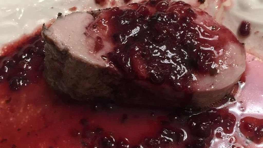 Blackberry Basil Glaze for Pork Tenderloin