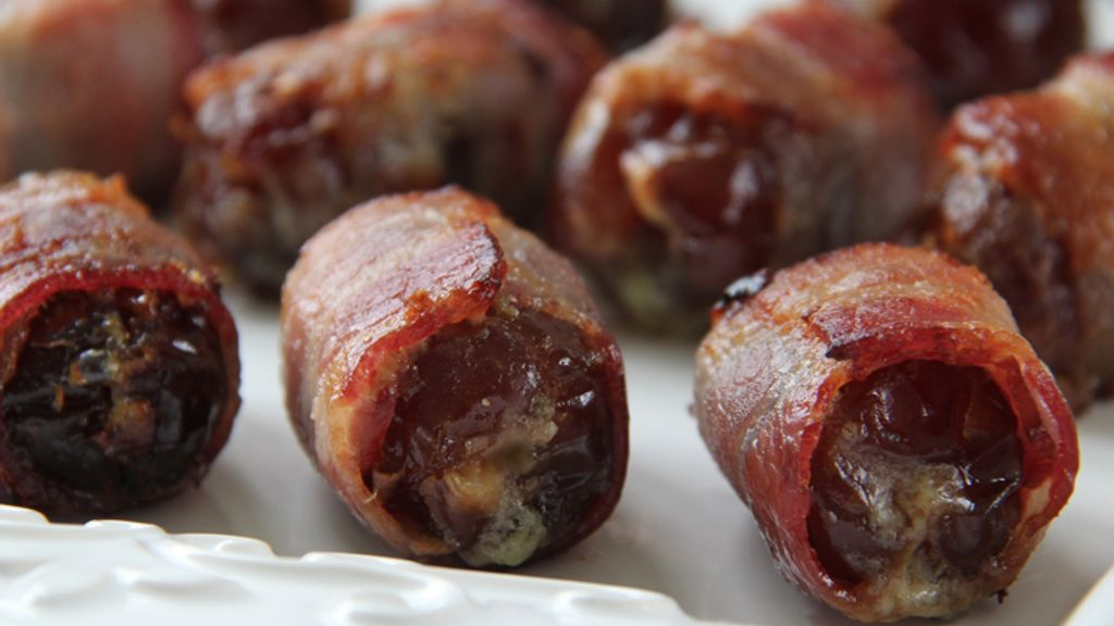 Bacon Wrapped Dates Stuffed with Gorgonzola