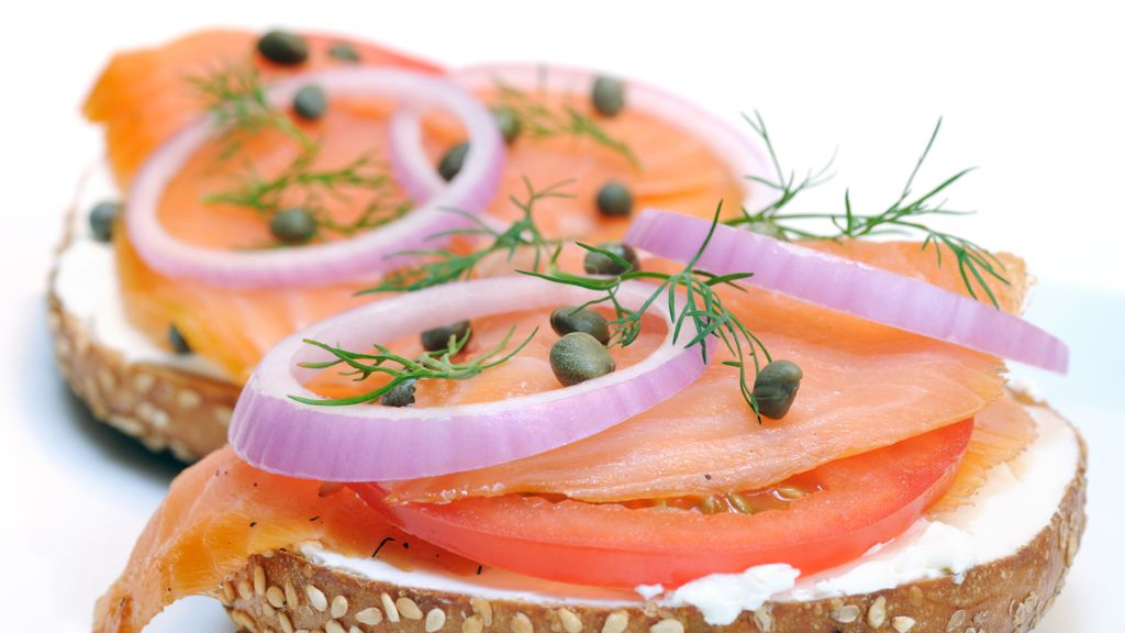 Toasted Bagel with Lox