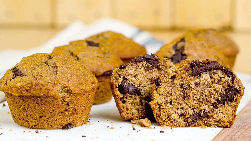 Olive Oil Honey Banana Bread Muffins