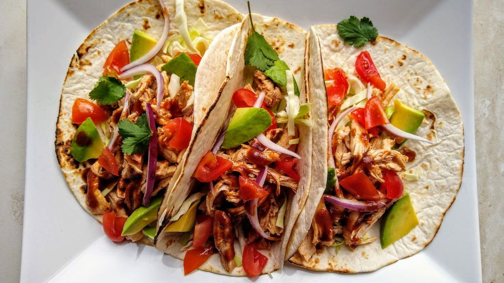 Sticky Chicken Tacos