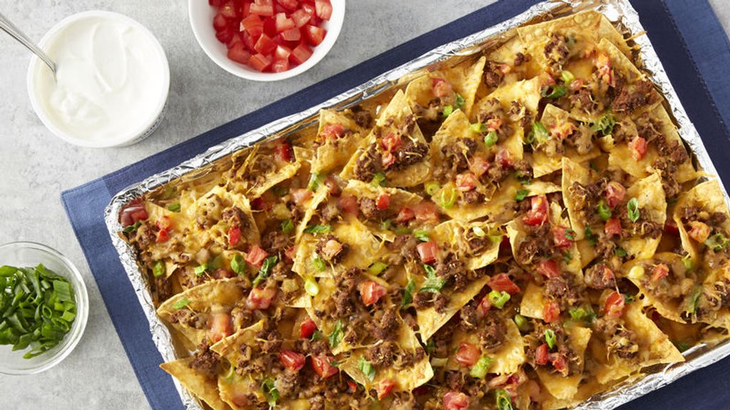 Beef and Cheese Nacho Dip Bake